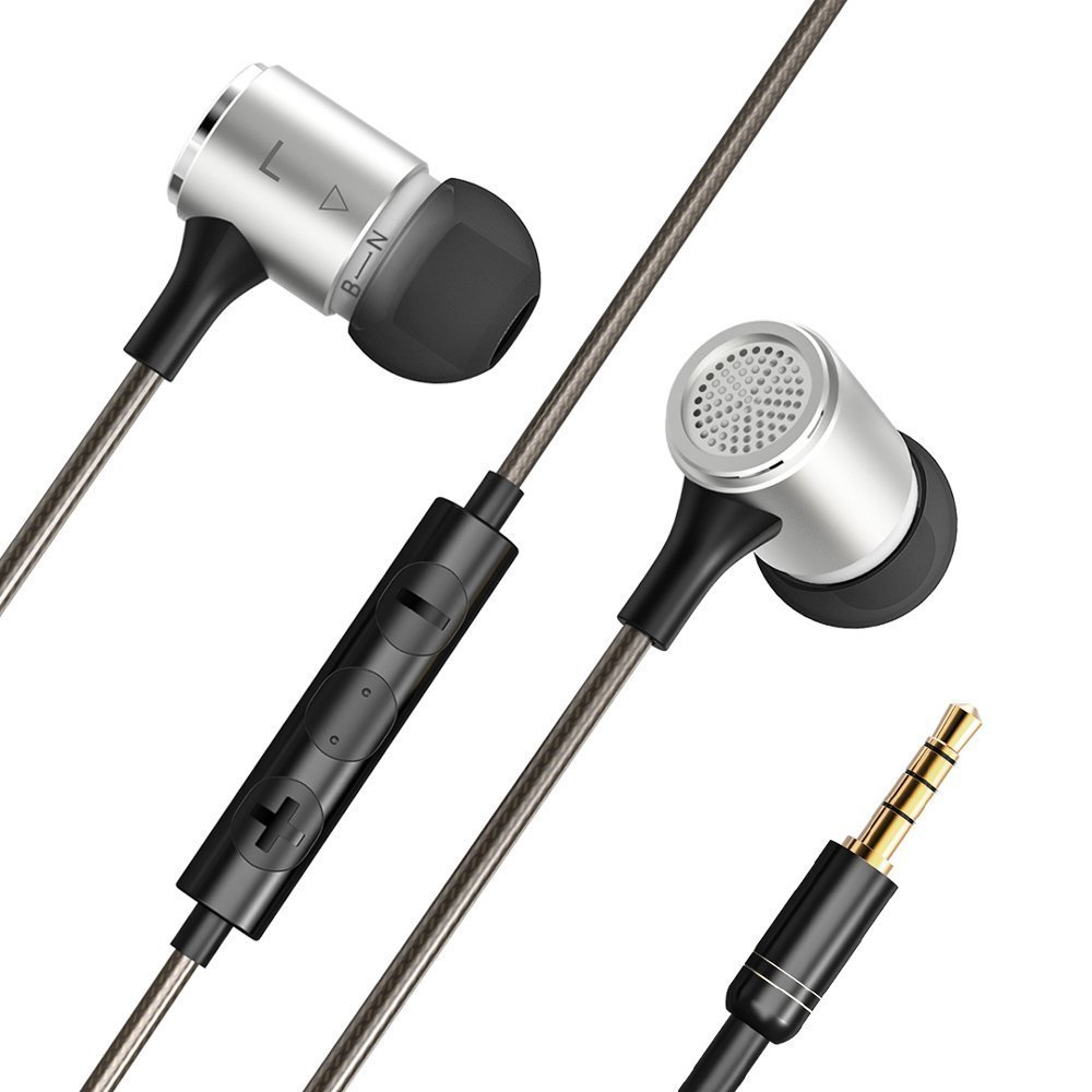 VAVA Flex Wired Earphones, Bass Stereo Earbuds Headphones, In-ear  Headphones with mic (Dual EQ Modes, Inline Controls for iOS /Android,  Built-in Mic,